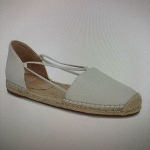 Eileen Fisher Espadrille Flat in White Leather